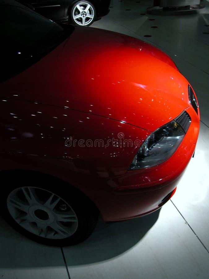 спорт красного цвета автомобиля стоковые изображения