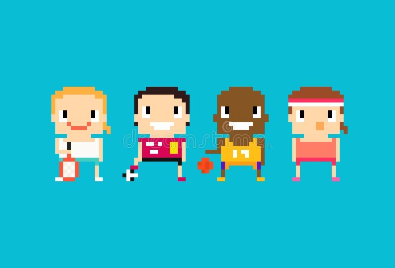 Спорт пиксела иллюстрация штока