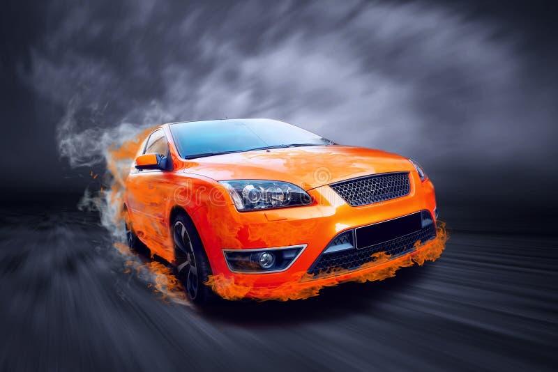 спорт пожара автомобиля стоковое фото rf