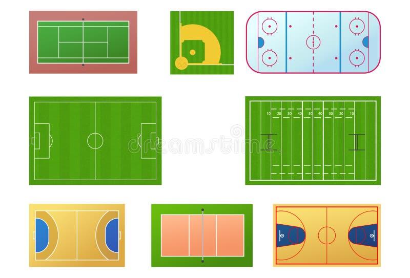 спорт полей иллюстрация вектора
