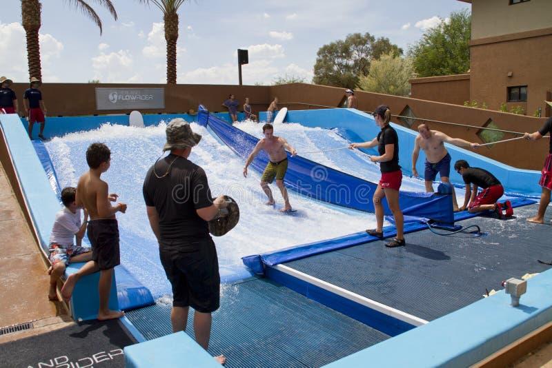 Спорт потехи вечеринки у бассейна стоковое фото