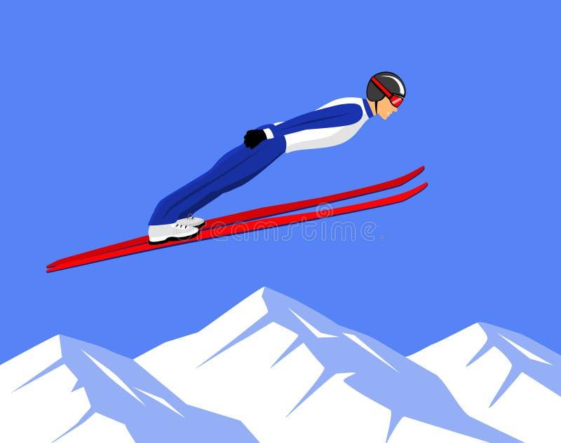 Спорт прыжков с трамплина бесплатная иллюстрация