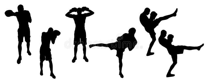 Спорт силуэта иллюстрация вектора