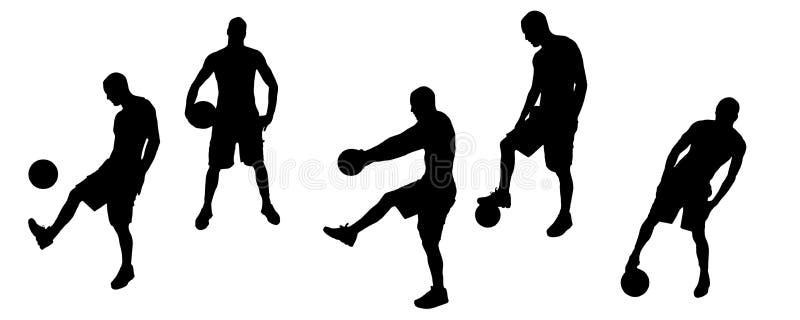 Спорт силуэта иллюстрация штока
