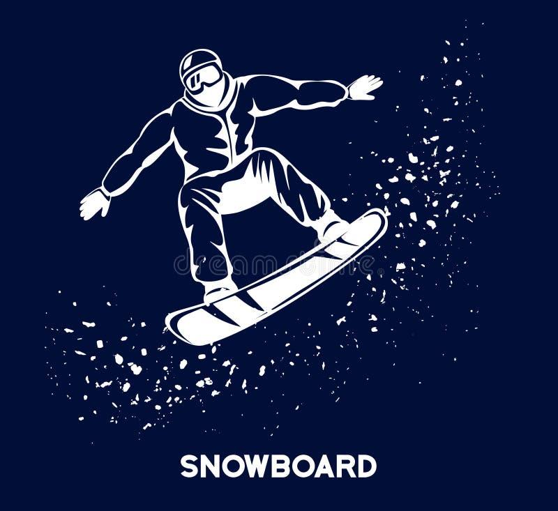 Спорт сноубординга зимы бесплатная иллюстрация