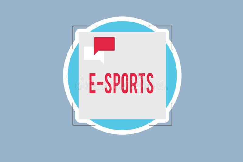Спорт текста e почерка Видеоигра смысла концепции предназначенная для многих игроков сыграла конкурсно для зрителей иллюстрация вектора
