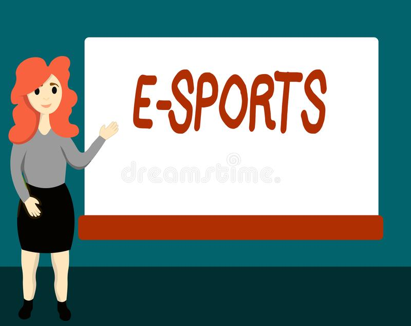 Спорт текста e почерка Видеоигра смысла концепции предназначенная для многих игроков сыграла конкурсно для зрителей бесплатная иллюстрация