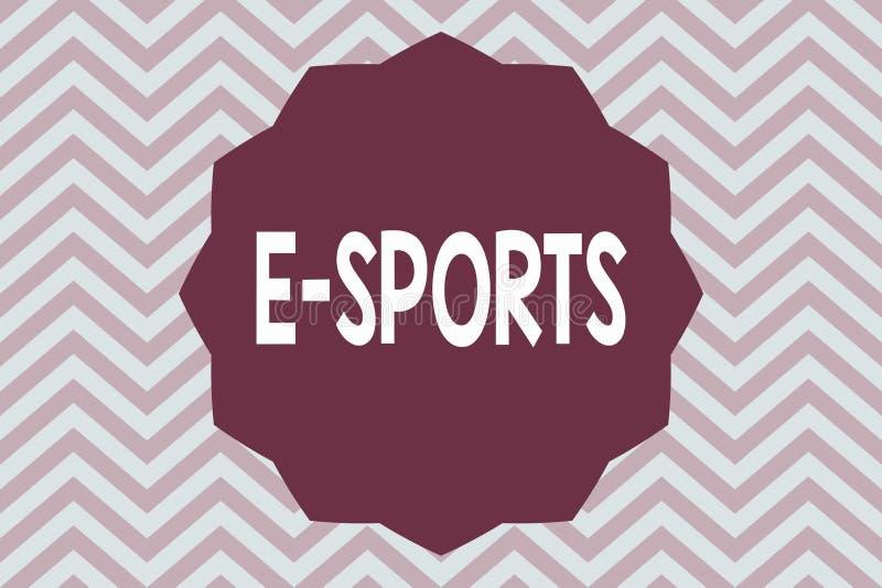 Спорт текста e сочинительства слова Концепция дела для предназначенной для многих игроков видеоигры сыграла конкурсно для зрителе бесплатная иллюстрация