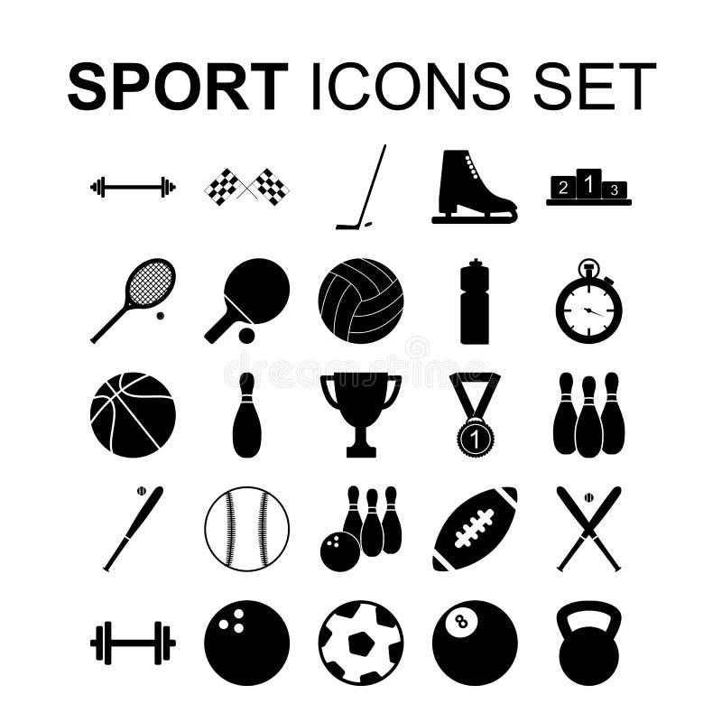 спорт установленный иконами также вектор иллюстрации притяжки corel бесплатная иллюстрация