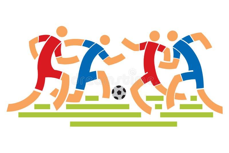 спорт футбола игроков персонажей из мультфильма иллюстрация штока