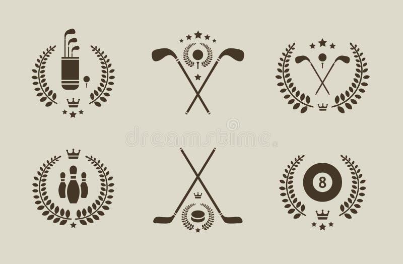 спорт эмблем иллюстрация штока