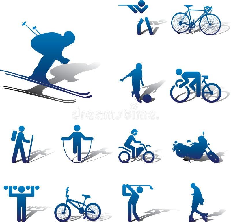 спорт 82a установленный иконами иллюстрация штока