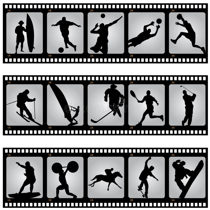 спорт filmstrip иллюстрация вектора