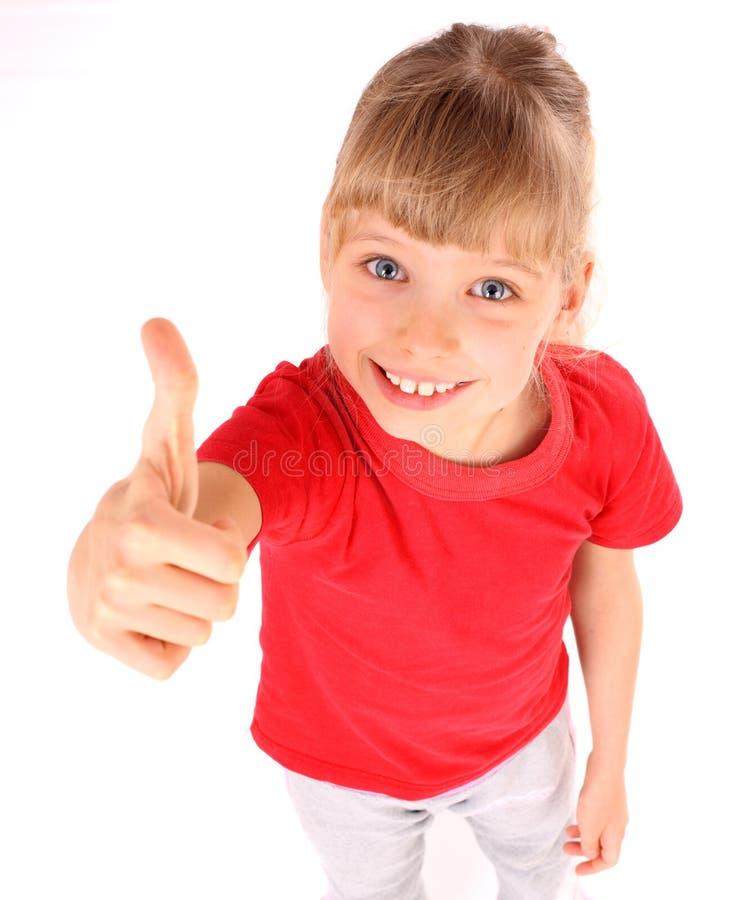 спорт t рубашки девушки угла красный стоковые изображения rf