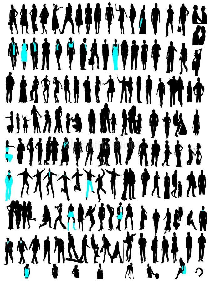 способ дела silhouettes разнообразие бесплатная иллюстрация