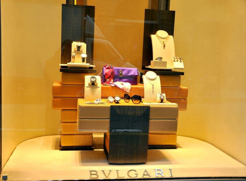 Способ ювелирных изделий Bulgari в Италии стоковое фото