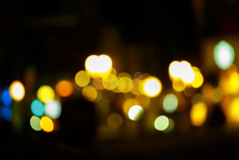 Справочная информация Праздничная абстрактная предпосылка с светами bokeh defocused стоковое фото