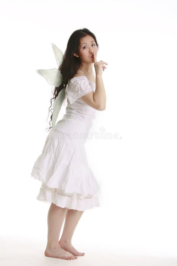 спрашивать fairy тихую белизну стоковое фото rf