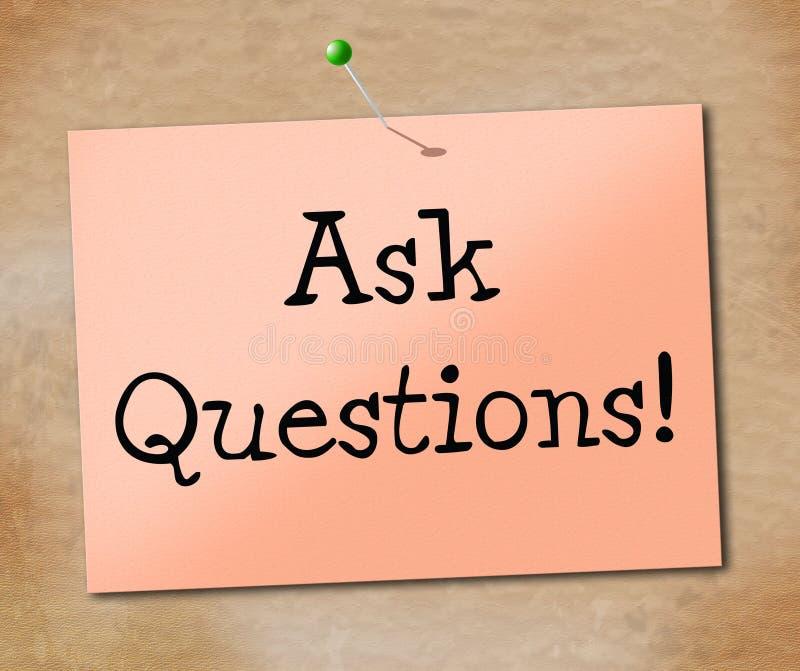 Спросите данные по и помощь Ч.З.В. середин вопросов бесплатная иллюстрация