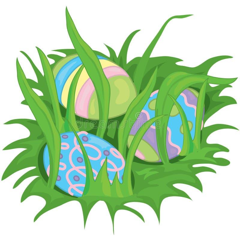 спрятанные пасхальные яйца иллюстрация штока