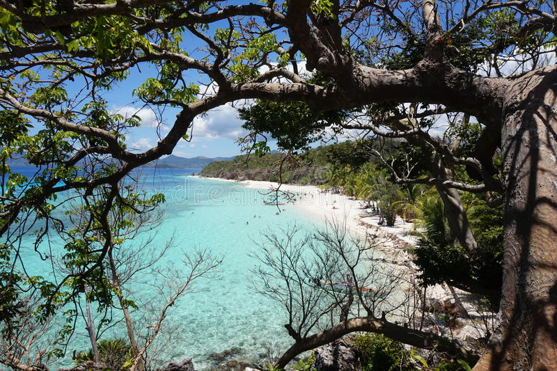 спрятанный пляж стоковое изображение