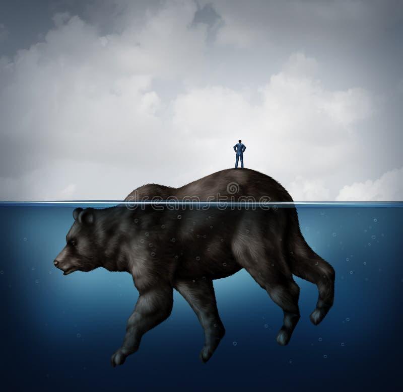 Спрятанный рынок с понижательной тенденцией бесплатная иллюстрация