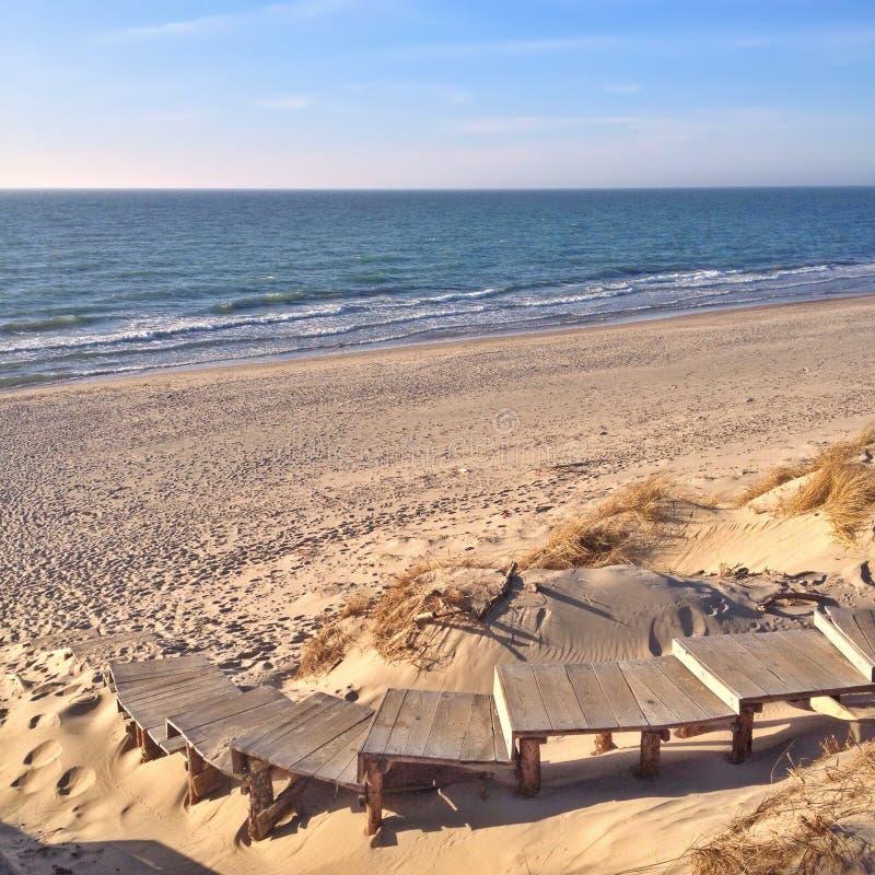 Спуск к пляжу, к морю стоковое фото rf