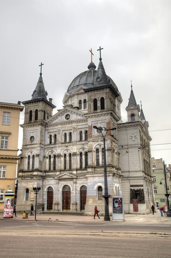 Спуск церков святого духа стоковое изображение