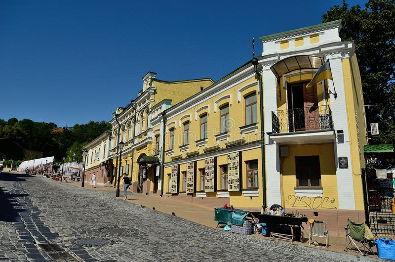 Спуск Эндрью (Andreevskiy Spusk), Киев стоковая фотография