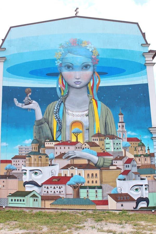 Спуск Andreevsky в Kyiv, граффити стоковое фото