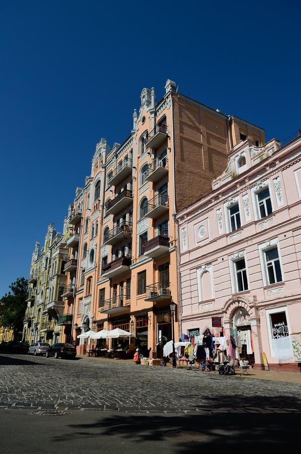 Спуск Andriyivskyy, Киев стоковое изображение