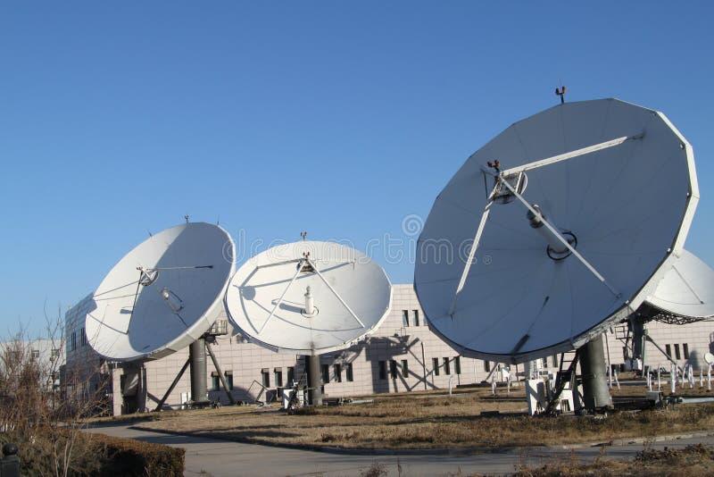 Спутниковая земля получает станцию в Пекине Китая стоковое фото
