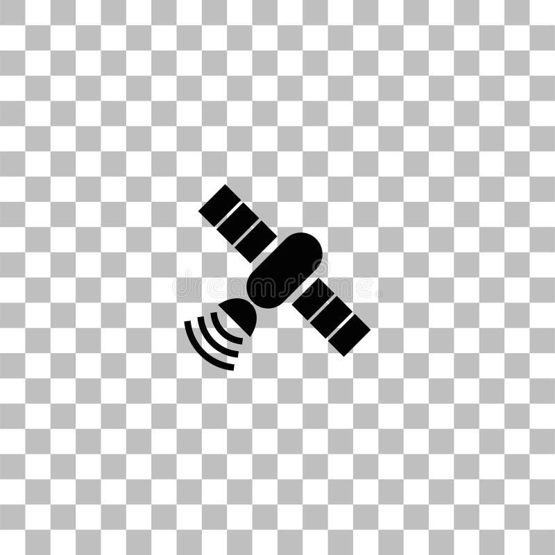 Спутниковая квартира значка иллюстрация штока