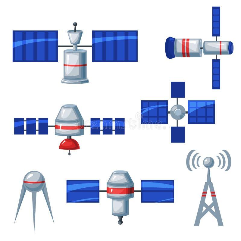 Спутниковые значки, иллюстрация вектора иллюстрация штока