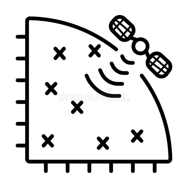 Спутниковый вектор значка иллюстрация штока