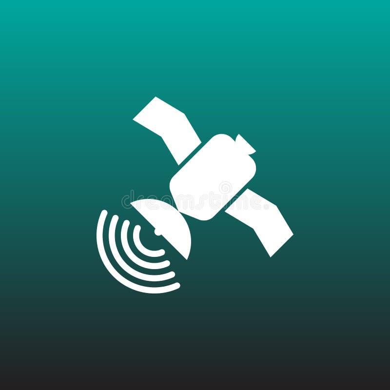 Спутниковый графический дизайн иллюстрации значка вектора бесплатная иллюстрация
