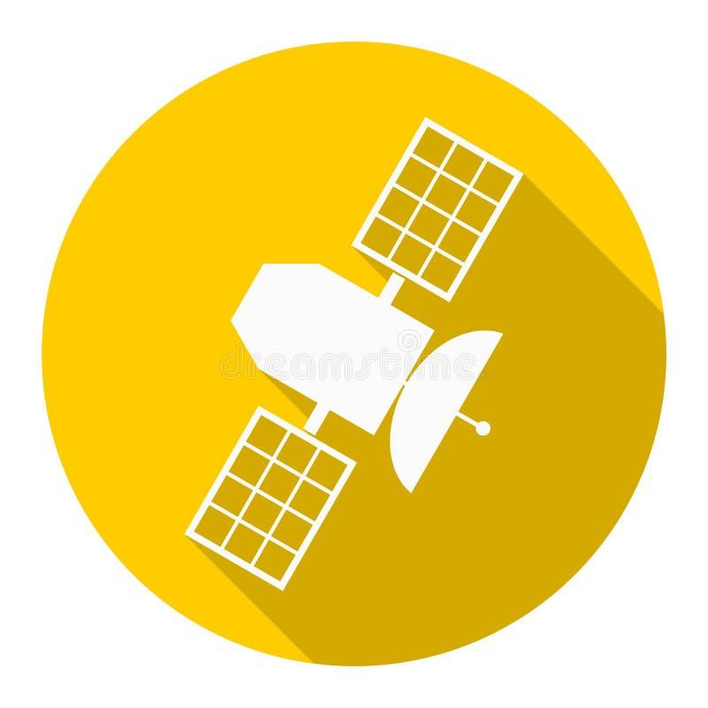 Спутниковый значок с длинной тенью бесплатная иллюстрация