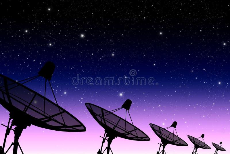 Спутниковый диск иллюстрация штока
