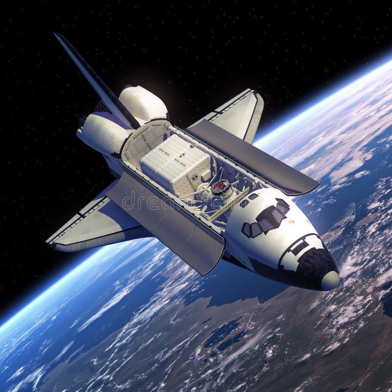Спутник космического летательного аппарата многоразового использования иллюстрация вектора