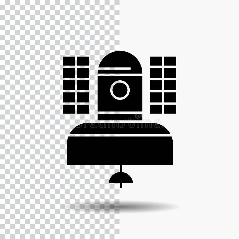 Спутник, передача, широковещание, сообщение, значок глифа радиосвязи на прозрачной предпосылке r бесплатная иллюстрация