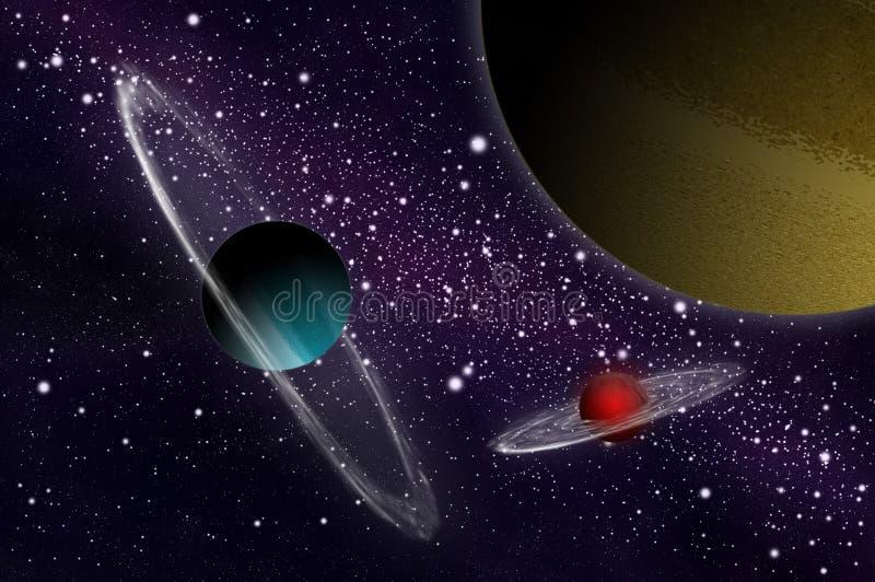 спутник планеты газа иллюстрация вектора
