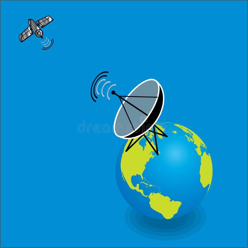 спутник тарелки иллюстрация штока