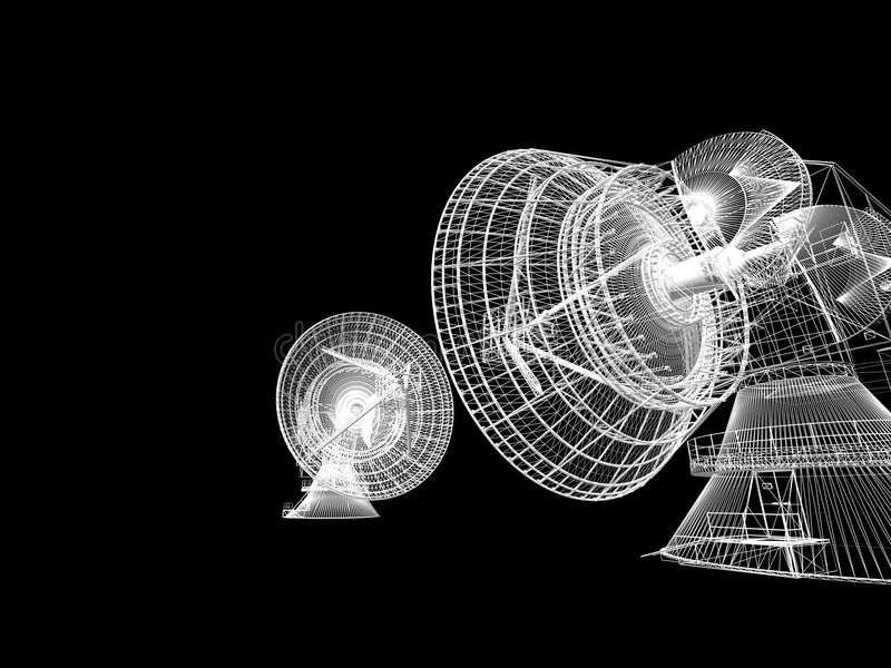 спутник тарелки иллюстрация вектора