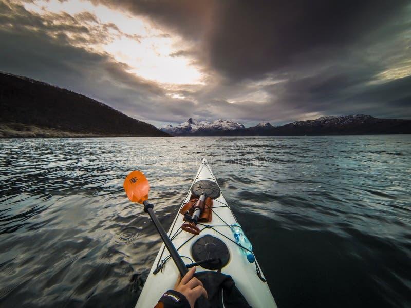 Сплавляться в северной Норвегии стоковое фото rf