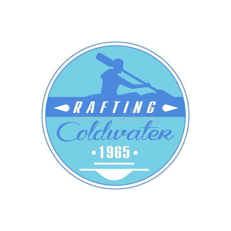 Сплавлять дизайн эмблемы Coldwater голубой иллюстрация вектора