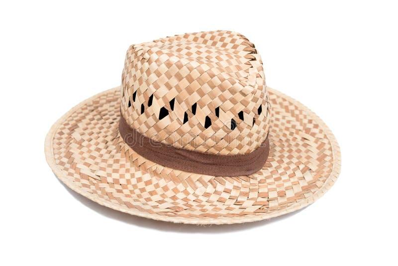 Сплетенный изолят шляпы моды на белой предпосылке стоковое фото