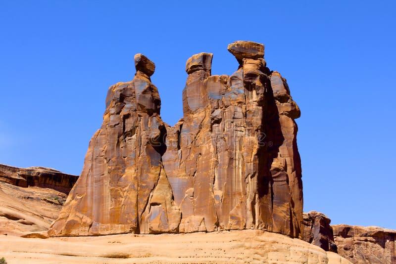 3 сплетни, национальный парк сводов стоковые изображения rf