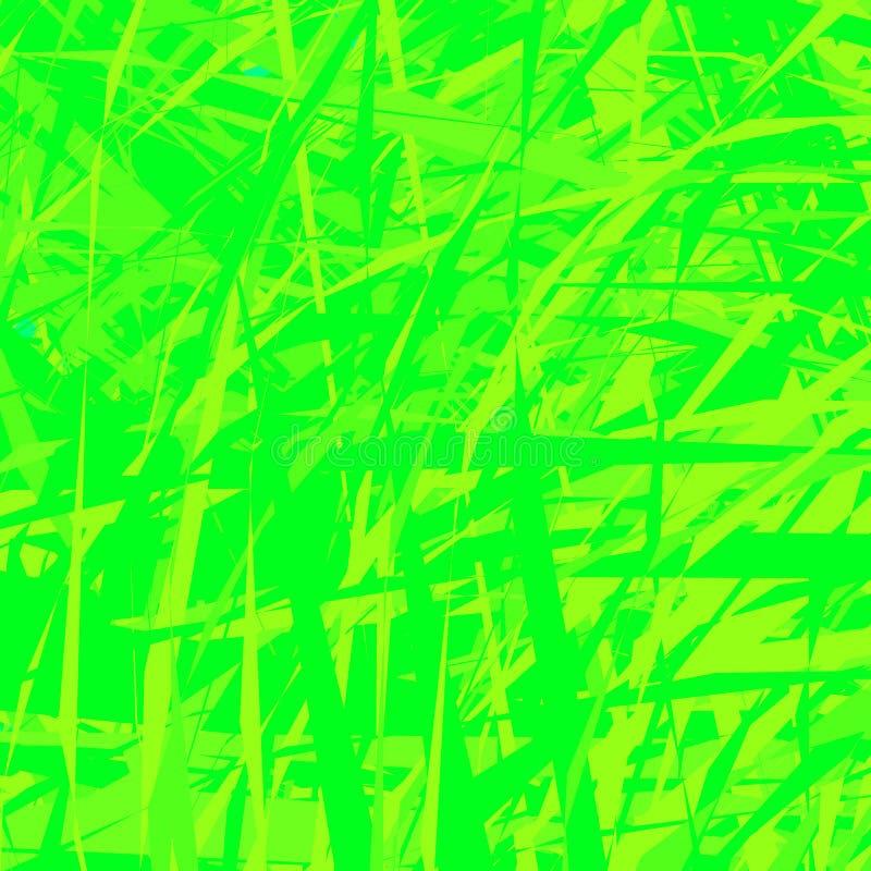 Сплющенный зеленый цвет, grungy текстура Сорванное, сорванное влияние в monochrome бесплатная иллюстрация