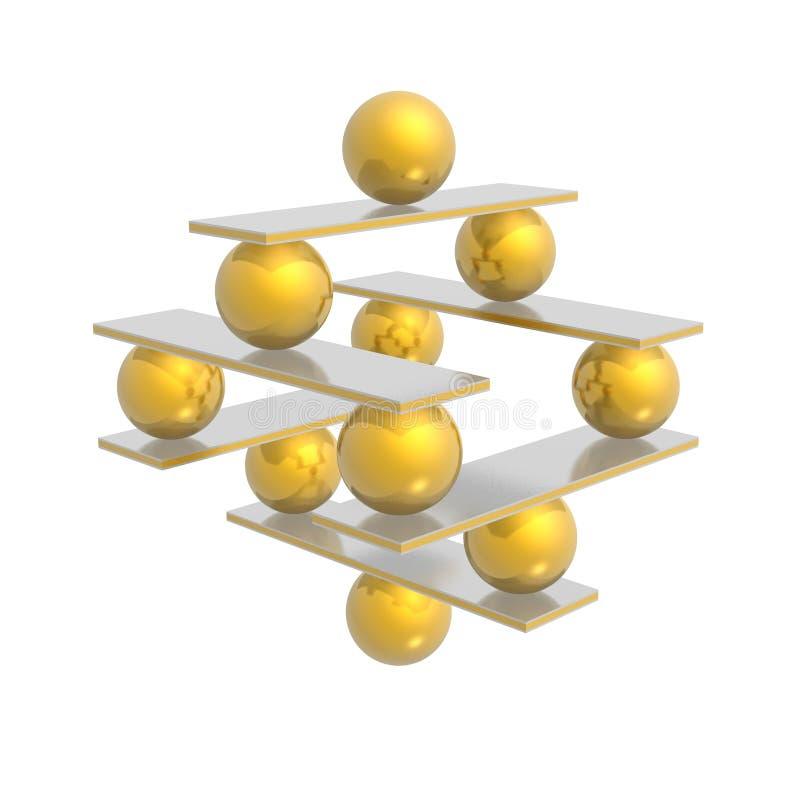сработанность баланса иллюстрация вектора