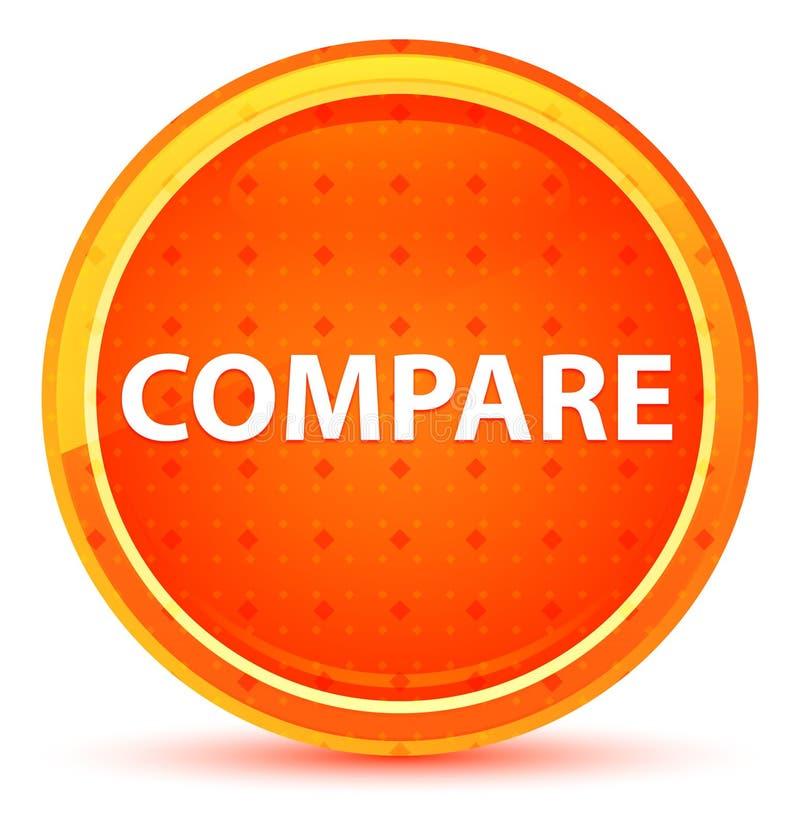 Сравните естественную оранжевую круглую кнопку бесплатная иллюстрация